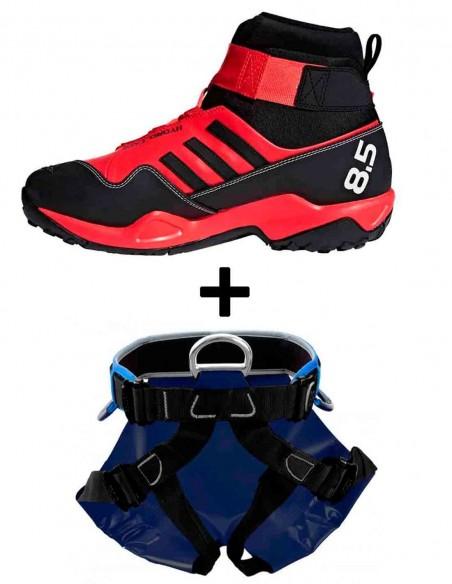 Pack bota adidas y arnés canyon +