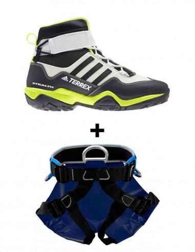 Pack ahorro botas adidas barrancos y arnés