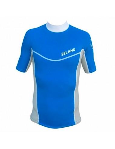 Seland Camiseta lycra fina Azul